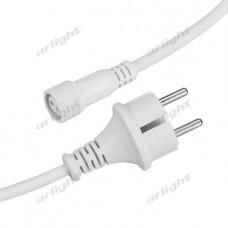 Шнур питания ARD-CLASSIC-ICEFALL-1.5M White (230V), Arlight, 026106
