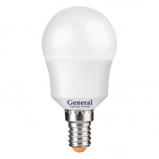 Лампа светодиодная GLDEN-G45F-7-230-E14-4500, упаковка 10 штук, General, GNL640700