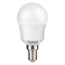 Лампа светодиодная GLDEN-G45F-7-230-E14-2700, упаковка 10 штук, General, GNL640600
