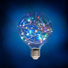 Лампа новогодняя GLDEN-G95SW-1-230-E27-RGB, упаковка 5 штук, General, GNL649921