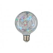 Лампа новогодняя GLDEN-G95SW-STAR-1-230-E27-RGB, упаковка 5 штук, General, GNL661008