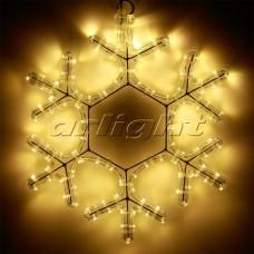 "Светодиодная фигура ""СНЕЖИНКА"" ARD-SNOWFLAKE-M7-450x375-126LED Warm (230V, 7.5W), Arlight, 025315"
