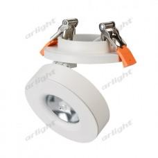 Светодиодный светильник LGD-MONA-BUILT-R100-12W Warm3000 (WH, 24 deg), Arlight, 025450
