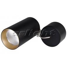 Светильник светодиодный подвесной SP-POLO-R85-2-15W Day White 40deg Black, Gold Ring, Arlight, 022959