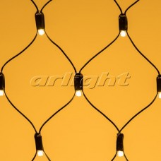 "Светодиодная гирлянда ""Сетка"" ARD-NETLIGHT-CLASSIC-2500x2500-BLACK-432LED Warm (230V, 26W), Arlight, 024692"