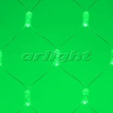 """Светодиодная гирлянда """"Сетка"""" ARD-NETLIGHT-CLASSIC-2000x1500-CLEAR-288LED Green (230V, 18W), Arlight, 024680"""