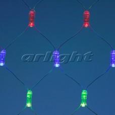 "Светодиодная гирлянда ""Сетка"" ARD-NETLIGHT-CLASSIC-2000x1500-CLEAR-288LED RGB (230V, 18W), Arlight, 024686"