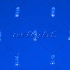 """Светодиодная гирлянда """"Сетка"""" ARD-NETLIGHT-CLASSIC-2000x1500-CLEAR-288LED Blue (230V, 18W), Arlight, 024681"""