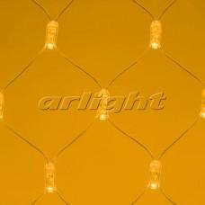 "Светодиодная гирлянда ""Сетка"" ARD-NETLIGHT-CLASSIC-2000x1500-CLEAR-288LED Yellow (230V, 18W), Arlight, 024682"