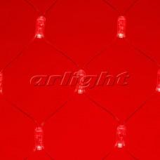 """Светодиодная гирлянда """"Сетка"""" ARD-NETLIGHT-CLASSIC-2000x1500-CLEAR-288LED Red (230V, 18W), Arlight, 024679"""