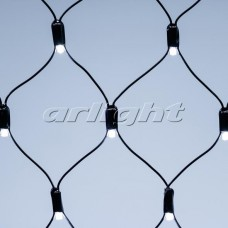 "Светодиодная гирлянда ""Сетка"" ARD-NETLIGHT-CLASSIC-2500x2500-BLACK-432LED White (230V, 26W), Arlight, 024691"