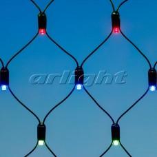 "Светодиодная гирлянда ""Сетка"" ARD-NETLIGHT-CLASSIC-2000x1500-BLACK-288LED RGB (230V, 18W), Arlight, 024690"