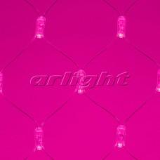 """Светодиодная гирлянда """"Сетка"""" ARD-NETLIGHT-CLASSIC-2000x1500-CLEAR-288LED Pink (230V, 18W), Arlight, 024683"""