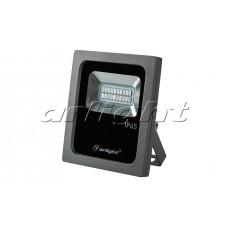 Светодиодный прожектор AR-FLAT-10W-220V Yellow (Grey, 120 deg), Arlight, 024201