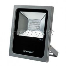 Светодиодный прожектор AR-FLAT-30W-220V Red (Grey, 120 deg), Arlight, 024173