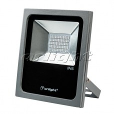 Светодиодный прожектор AR-FLAT-30W-220V Blue (Grey, 120 deg), Arlight, 024172