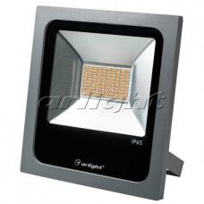 Светодиодный прожектор AR-FLAT-50W-220V Yellow (Grey, 120 deg), Arlight, 024204