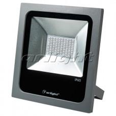 Светодиодный прожектор AR-FLAT-50W-220V Blue (Grey, 120 deg), Arlight, 024175