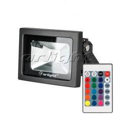 Светодиодный прожектор AR-FLB-10W-220V RGB (IR ПДУ Карта 24кн), Arlight, 023850