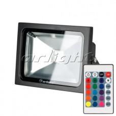 Светодиодный прожектор AR-FLB-20W-220V RGB (IR ПДУ Карта 24кн), Arlight, 023851