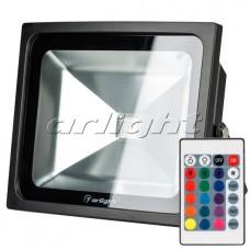 Светодиодный прожектор AR-FLB-50W-220V RGB (IR ПДУ Карта 24кн), Arlight, 023853
