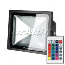 Светодиодный прожектор AR-FLB-30W-220V RGB (IR ПДУ Карта 24кн), Arlight, 023852
