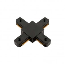 Коннектор для шинопровода Х-образный однофазный G-1-TXT-IP20-B черный, General, GNL580933