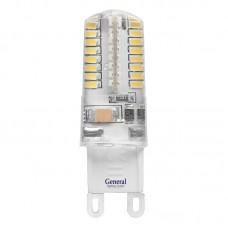 Лампа светодиодная GLDEN-G9-5-S-220-2700, упаковка 5 штук, General, GNL653600
