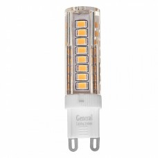 Лампа светодиодная GLDEN-G9-7-P-220-4500, упаковка 5 штук, General, GNL654100