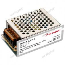 Блок питания для светодиодной ленты ARS-25-12 (12V, 2.1A, 25W), Arlight, 026681